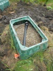 A CARISMA ICM installed in on a gravel bed.